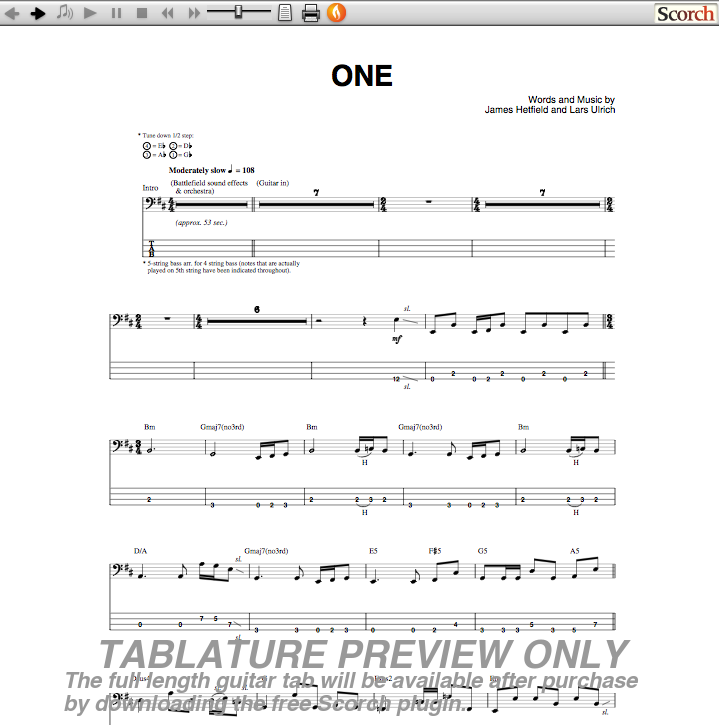 photoaltan11: one metallica tabs