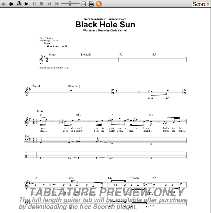 Black Hole Sun Chords - Pics about space