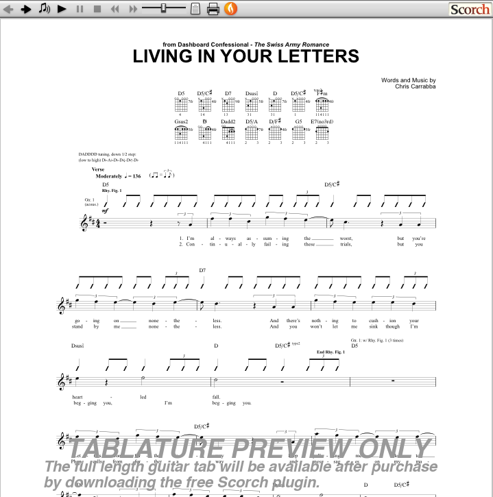 living in your letters