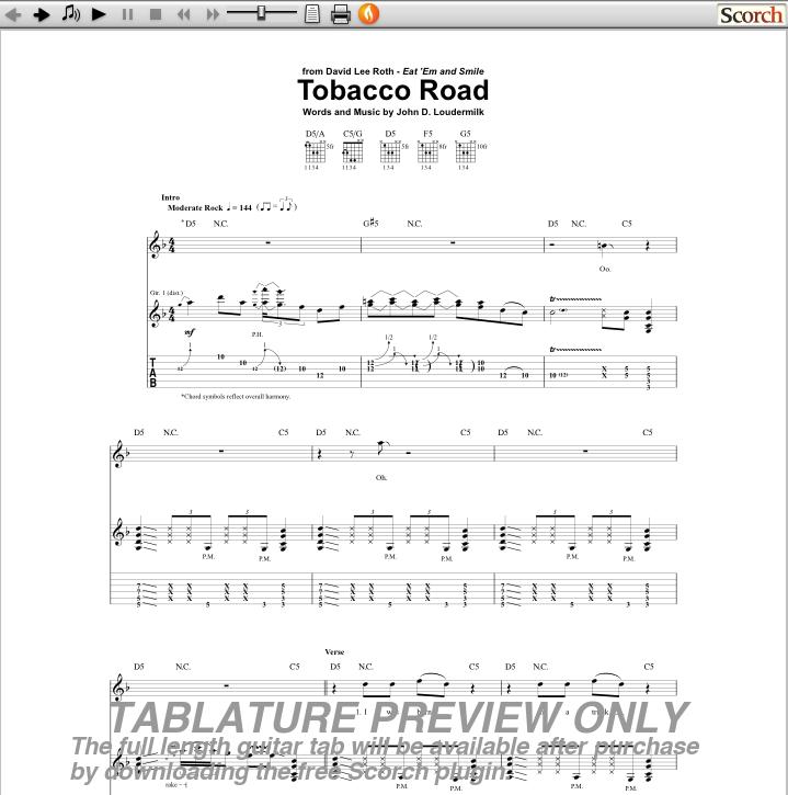 tobacco road guitar tab - FredrickRutteru0026#39;s blog