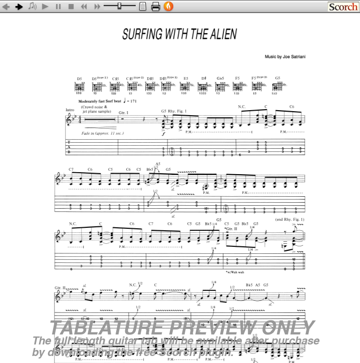 Surfing With The Alien Guitar