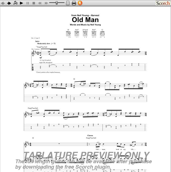 Download Old Man Chords Cifonati1986